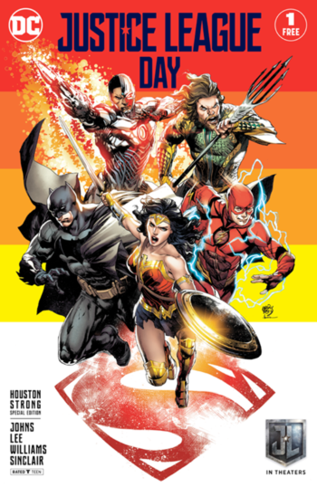 Justice League Day Houston Strong variant cover